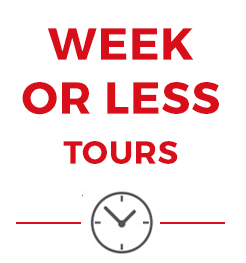 European tours of one week or less