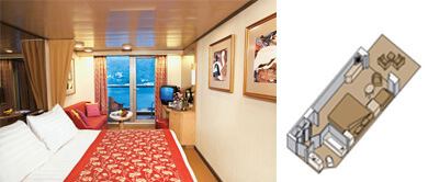 ms Noordam Deluxe Verandah Ocean-view Staterooms, Category VD and VB