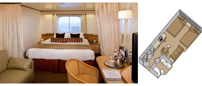 ms Veendam Ocean-view Stateroom Category C, D
